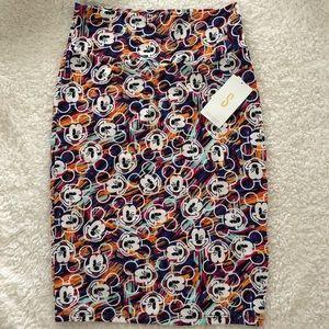 NWT- Lularoe Disney Cassie Pencil Skirt (S) Mickey
